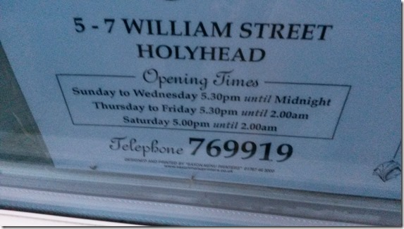 Bric a Brac of Knowledge Opening Hours - Pizzeria Holyhead